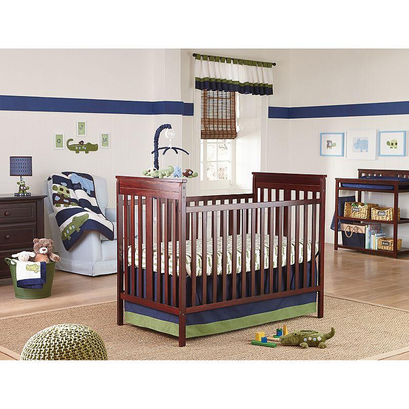 NoJo Alligator Blues 4-pc. Crib Bedding Set