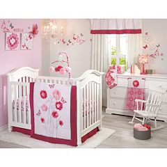 NoJo Butterfly Bouquet 4-pc. Crib Bedding Set by