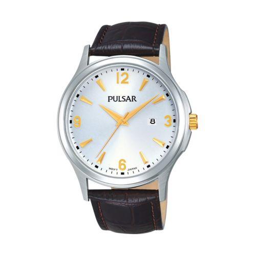 Pulsar Men's Leather Watch - PH9073