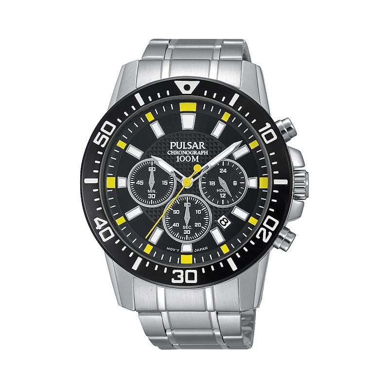 Pulsar Men's Stainless Steel Chronograph Watch - PT3641