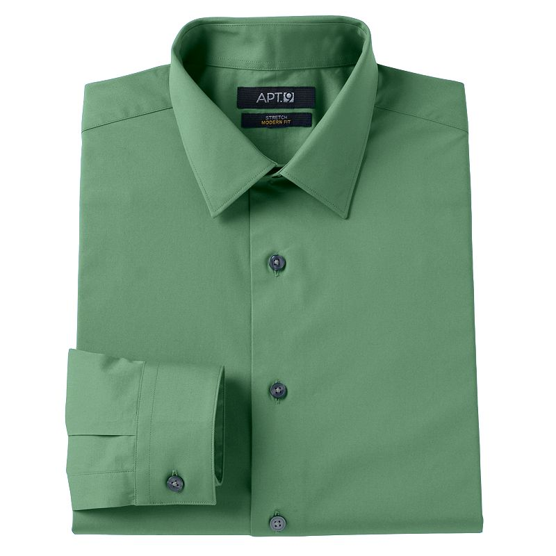 Men's Apt. 9® Modern-Fit Solid Stretch Spread-Collar Dress Shirt