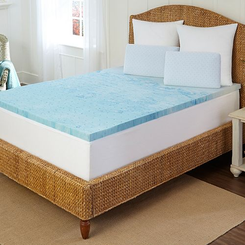 Tempure Rest 2 In Marbleized Gel Memory Foam Mattress Topper