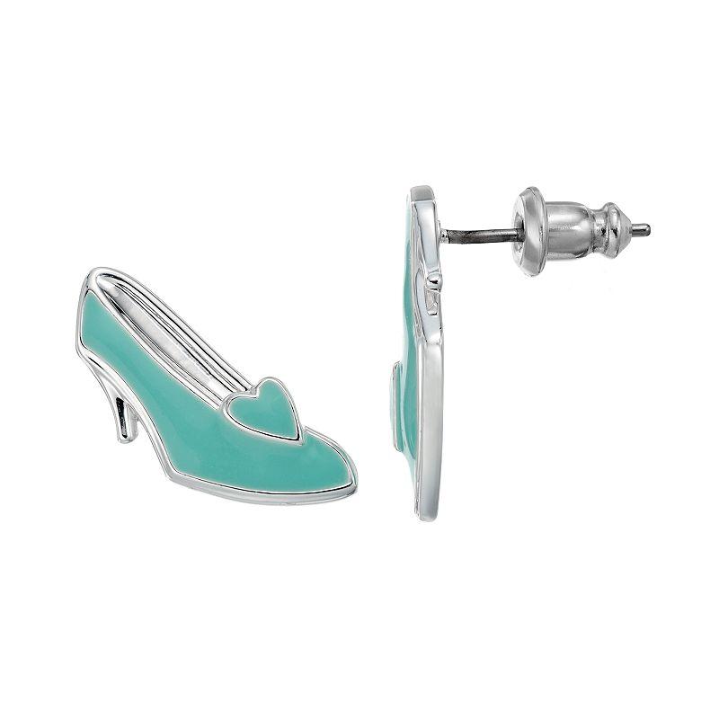 Disney's Cinderella Silver-Plated Slipper Stud Earrings
