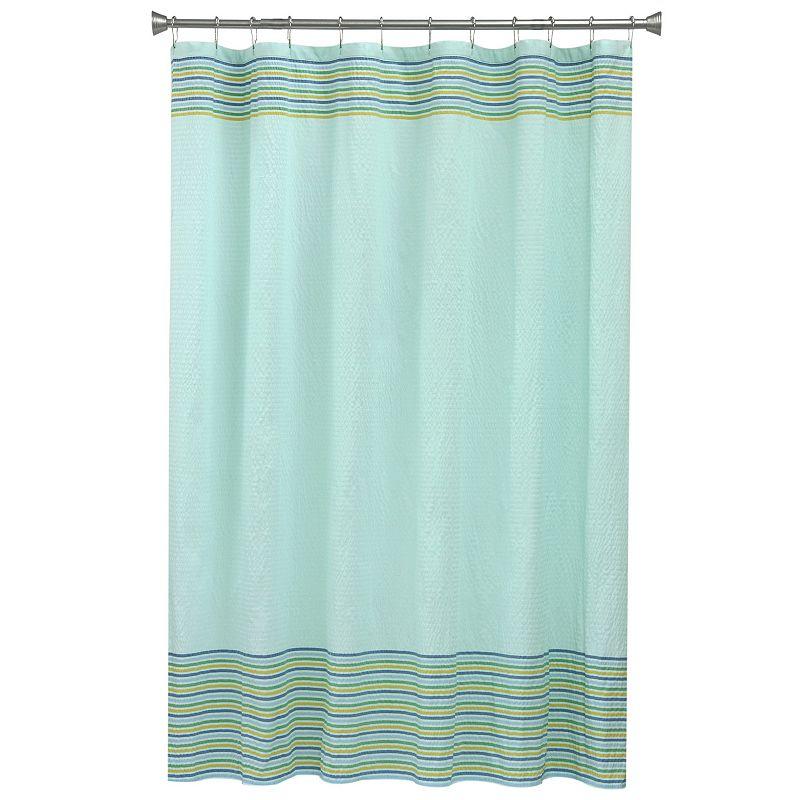 Seersucker Stripe Fabric Shower Curtain