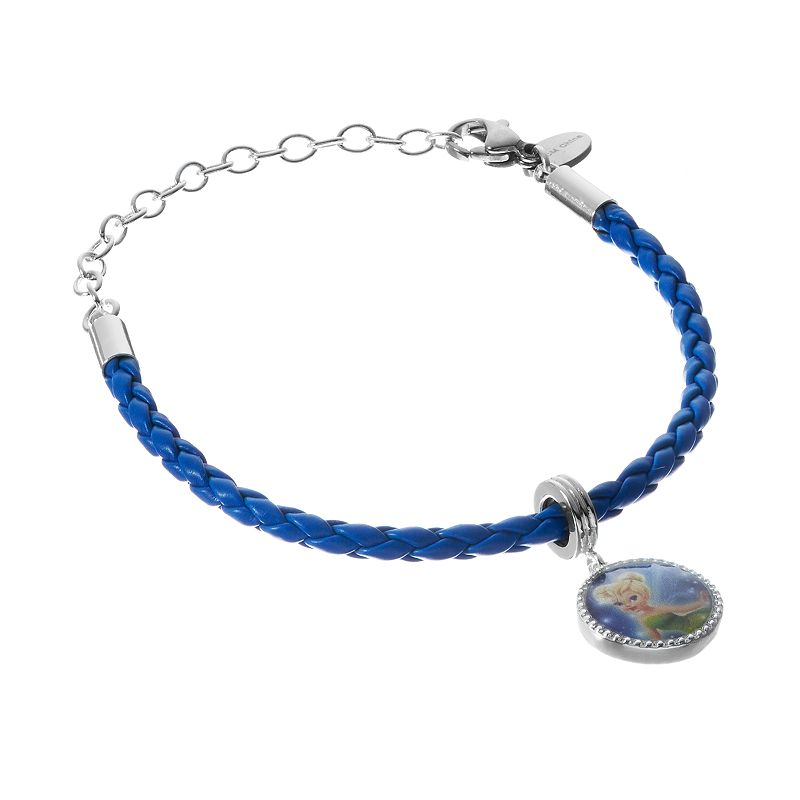 Disney's Tinker Bell Silver-Plated Woven Charm Bracelet - Kids