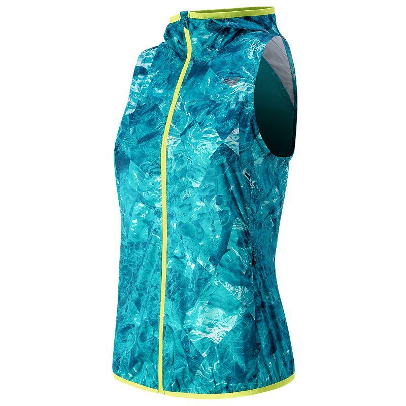 Women's New Balance Windcheater Hooded Full-Zip Running Vest