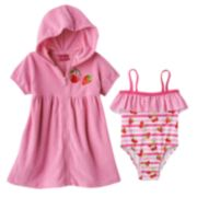 Penny M Fruit One-Piece Swimsuit & Cover-Up Set - Baby Girl