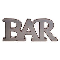Home Essentials & Beyond ''Bar'' Wall Decor