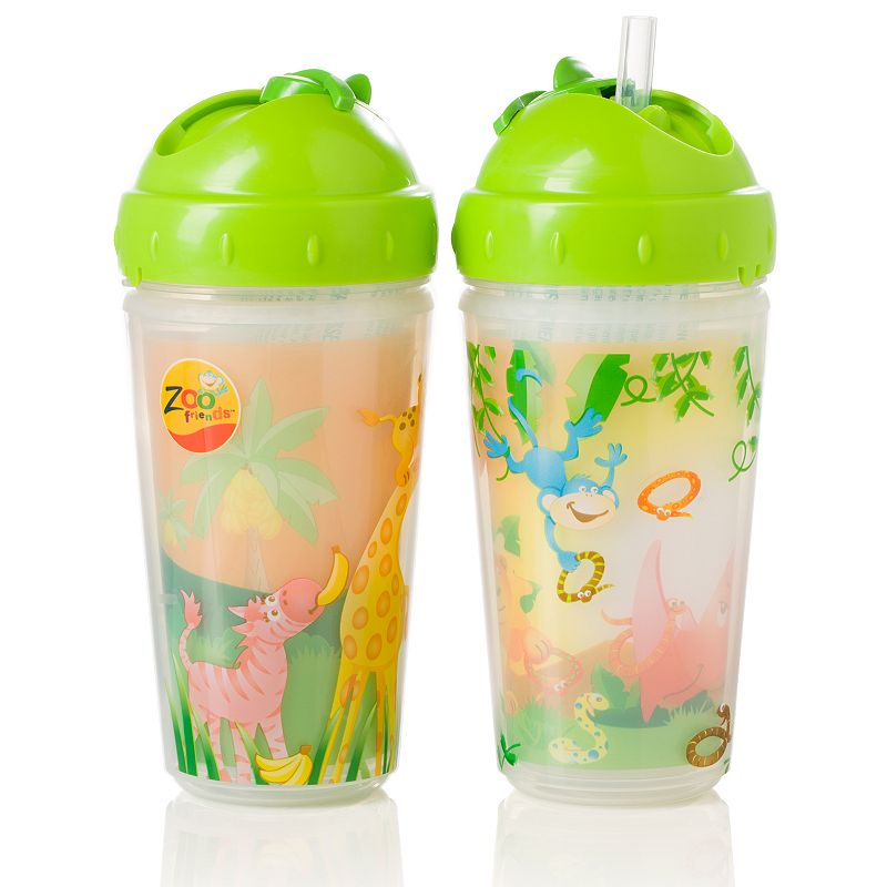 Evenflo Feeding 2-pk. Zoo Friends 10-oz. Insulated Straw Cups