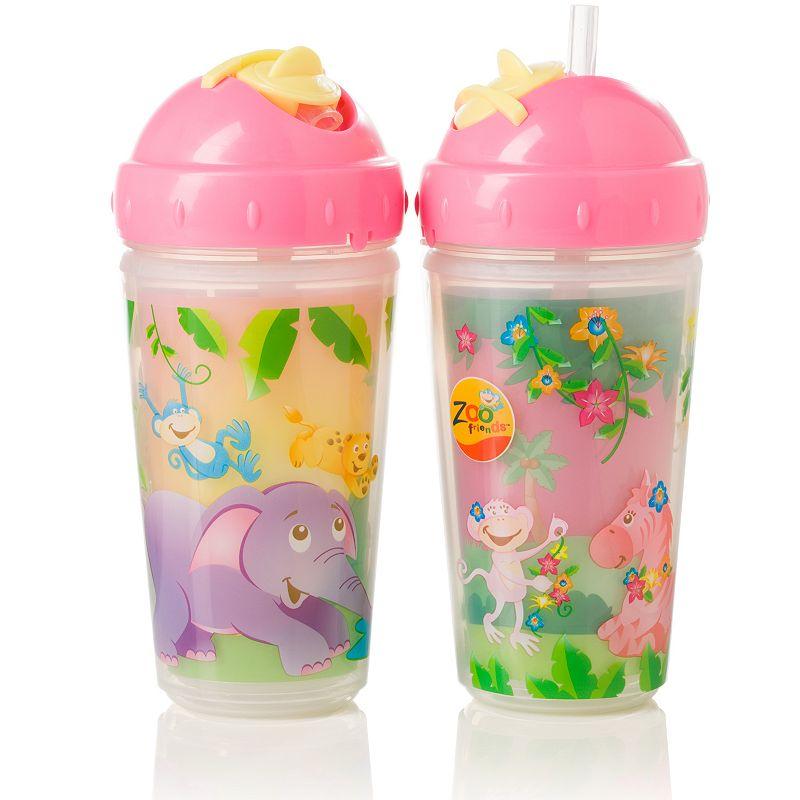 Evenflo Feeding 2-pk. Zoo Friends 10-oz. Insulated Straw Cups