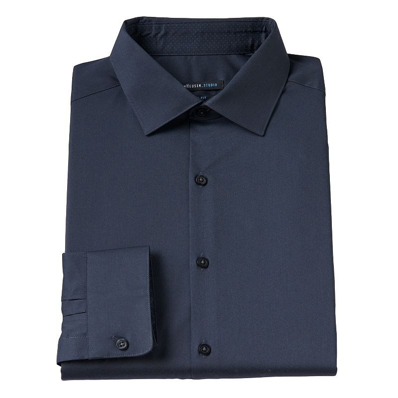 Men's Van Heusen Studio Slim-Fit Spread-Collar Dress Shirt