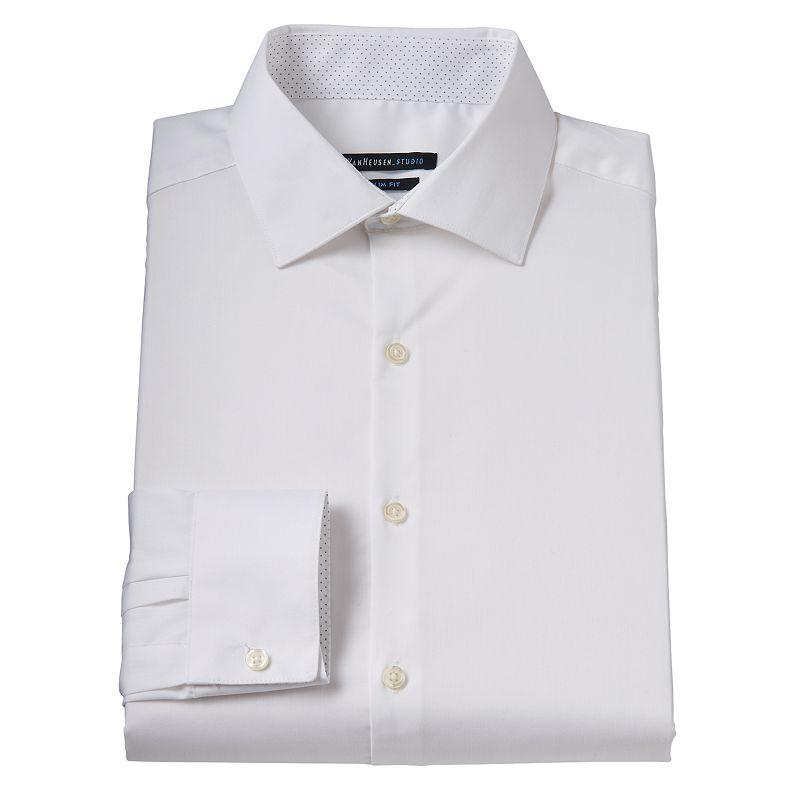 Men 39 s van heusen studio slim fit spread collar dress shirt for Van heusen studio shirts big and tall