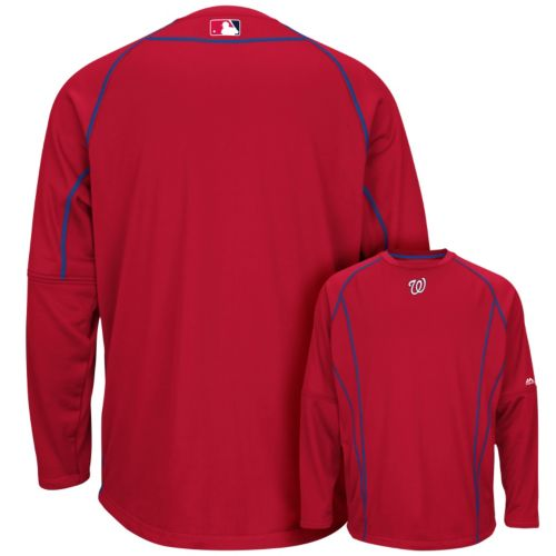 Men's Majestic Washington Nationals AC Team Property Therma Base Fleece Hoodie