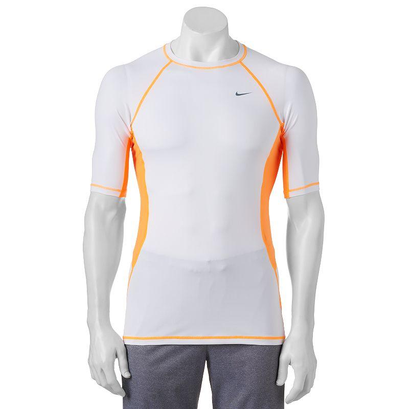 Men's Nike Color Surge Performance Rash Guard Swim Tee