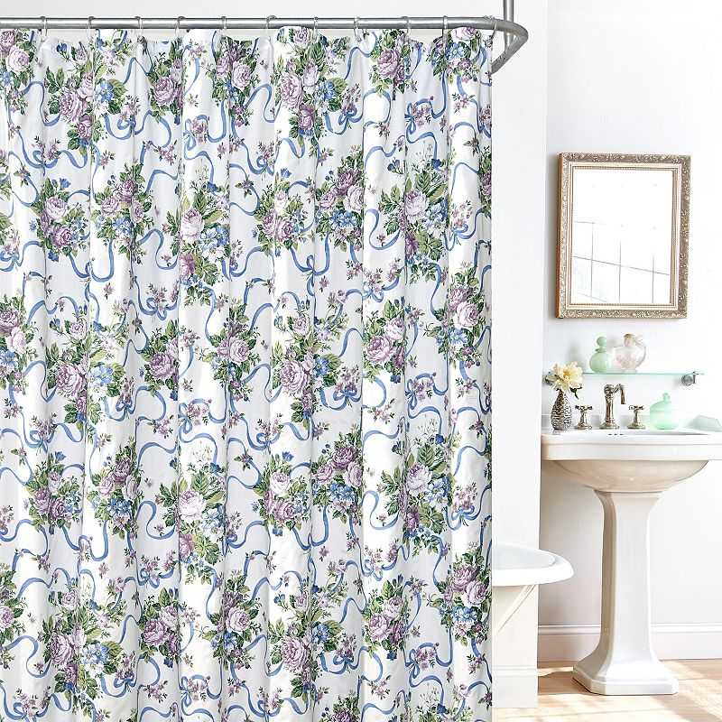 Plisse County Fair 14-pc. Fabric Shower Curtain, Liner and Hook Set