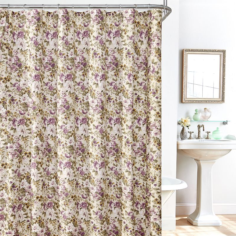 Plisse Leila 14-pc. Fabric Shower Curtain, Liner and Hook Set