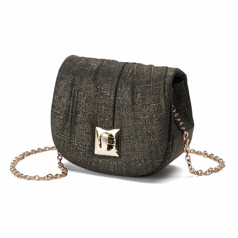 Lenore by La Regale Linen Shimmer Crossbody Bag