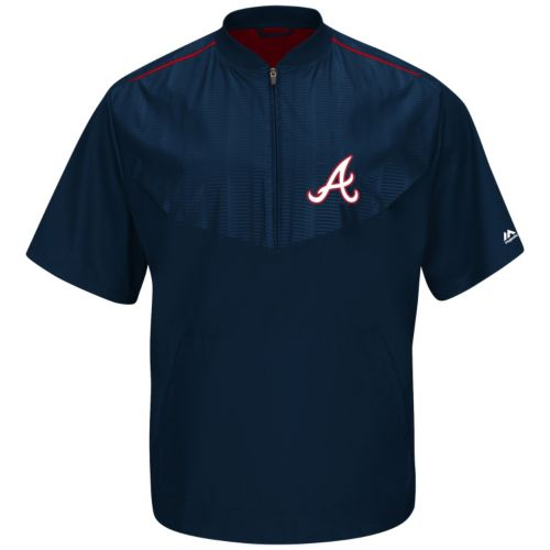 Men's Majestic Atlanta Braves On-Field Cool Base Training Jacket
