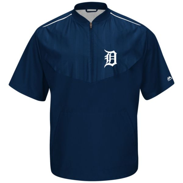 Men's Majestic Detroit Tigers On-Field Cool Base Training Jacket