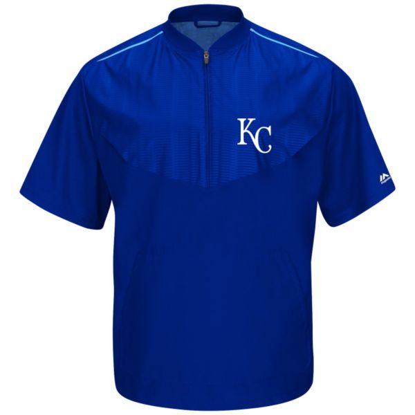 Men's Majestic Kansas City Royals On-Field Cool Base Training Jacket
