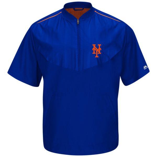 Men's Majestic New York Mets On-Field Cool Base Training Jacket