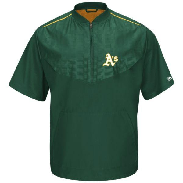 Men's Majestic Oakland Athletics On-Field Cool Base Training Jacket