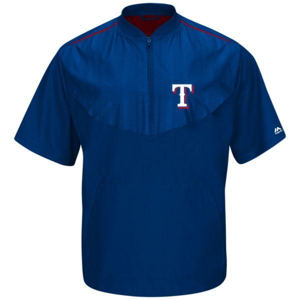 Men's Majestic Texas Rangers On-Field Cool Base Training Jacket