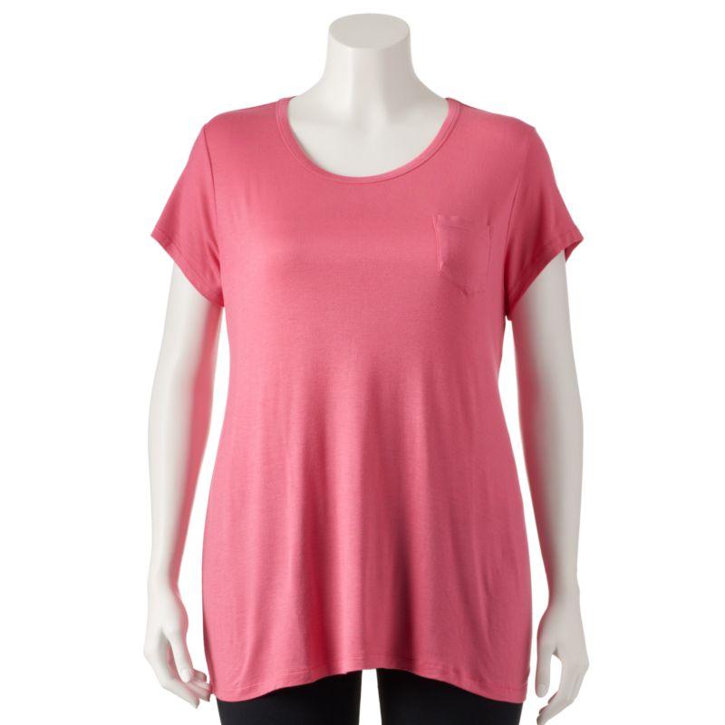 Plus Size Plus Size Jockey Pajamas: Shangri La Solid Pajama Tee, Women's, Size: 1X, Pink