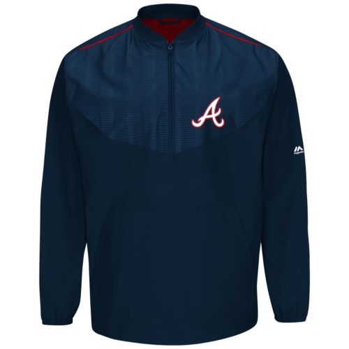 Men's Majestic Atlanta Braves On-Field Cool Base Long-Sleeve Training Jacket