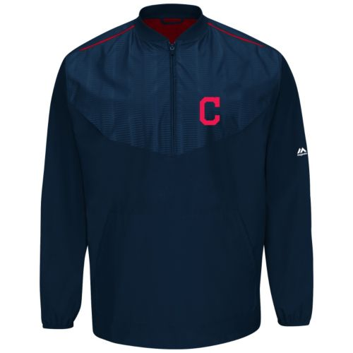 Men's Majestic Cleveland Indians On-Field Cool Base Training Jacket