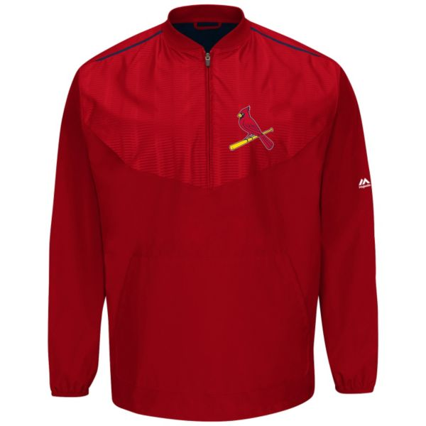 Majestic St. Louis Cardinals On-Field Cool Base Training Jacket - Men