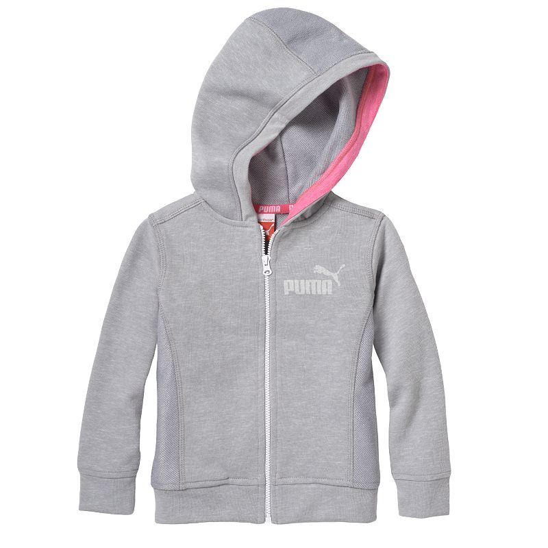 Toddler Girl PUMA Slubbed Full-Zip Hoodie