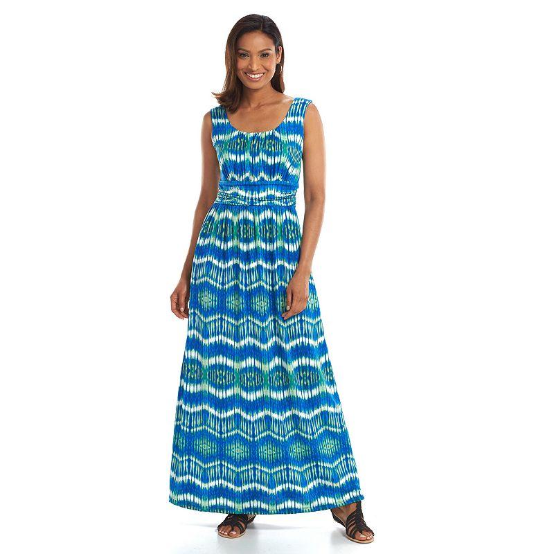 ab studio print empire maxi dress women s size by ab studio 5 0