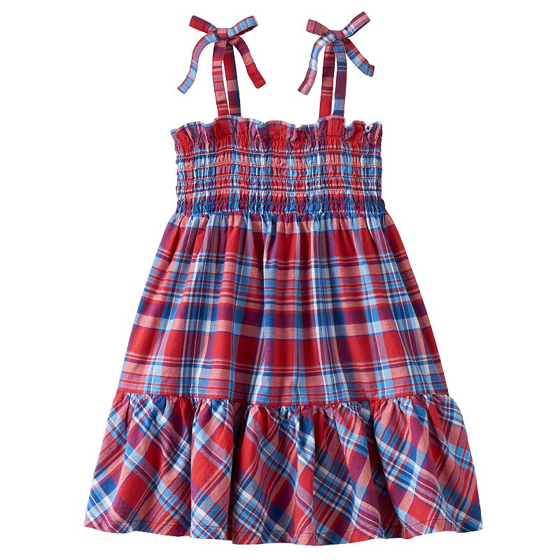 Toddler Girl Chaps Smocked Plaid Dress