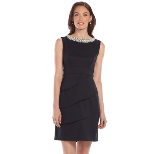 Connected Apparel Embellished Sheath Dress - Women's