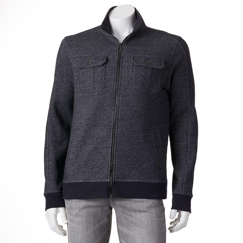 Men's Apt. 9® Modern-Fit Marled Military Mockneck Jacket