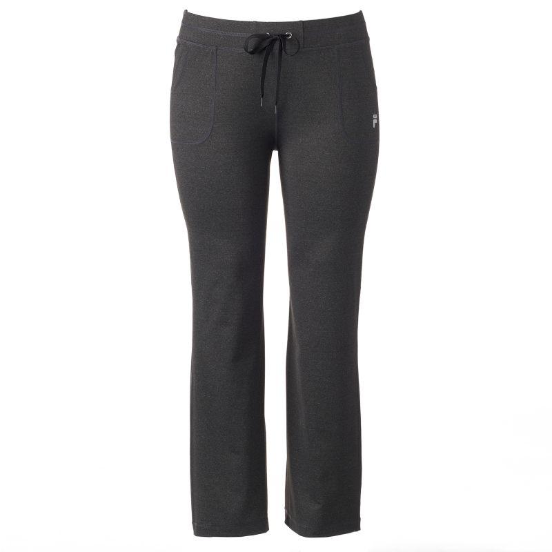 Plus Size FILA Sport® Movement Straight-Leg Yoga Pants, Women's, Size: 3XL, Med Grey