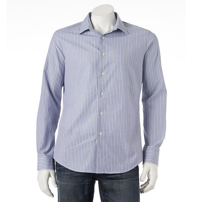 Men's Apt. 9® Slim-Fit Striped Casual Button-Down Shirt