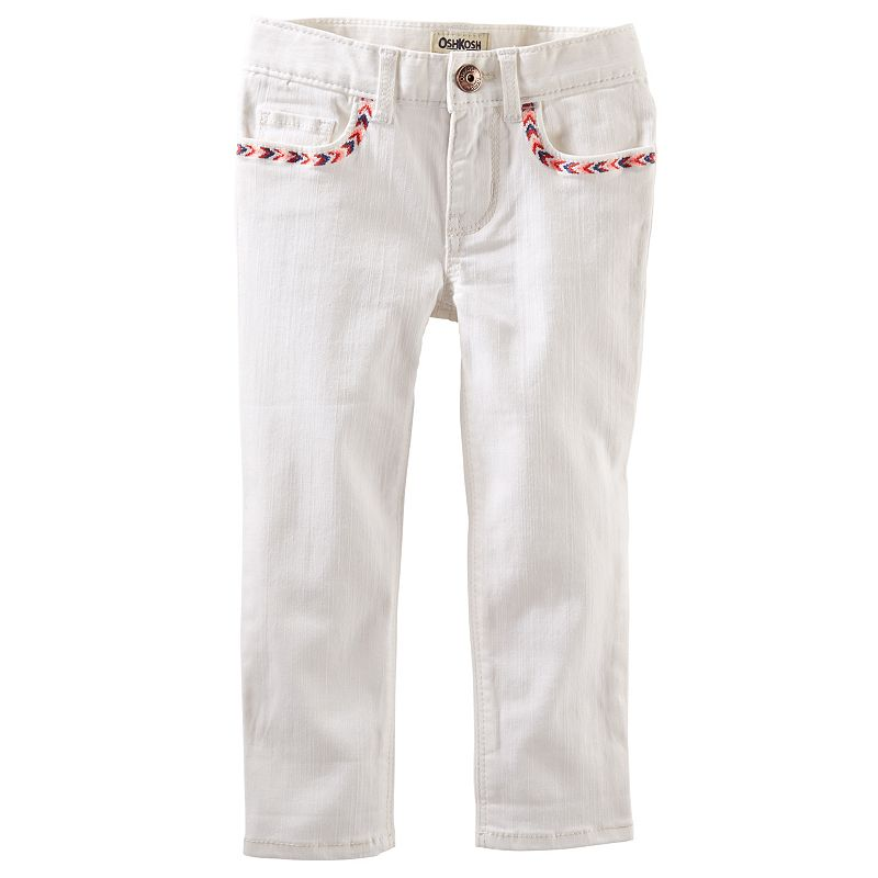 Toddler Girl OshKosh B'gosh® Embroidered Skinny Twill Capris