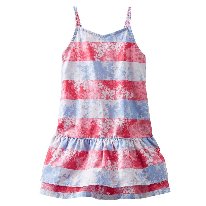 Toddler Girl OshKosh B'gosh® Poplin Stripe Floral Dress