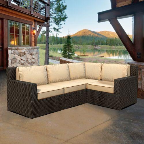 Terrazza Patio Meridian 4-piece Patio Sectional Sofa Set