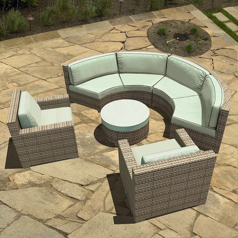 Terrazza Patio Madison 5-piece Radius Patio Sectional Sofa Set