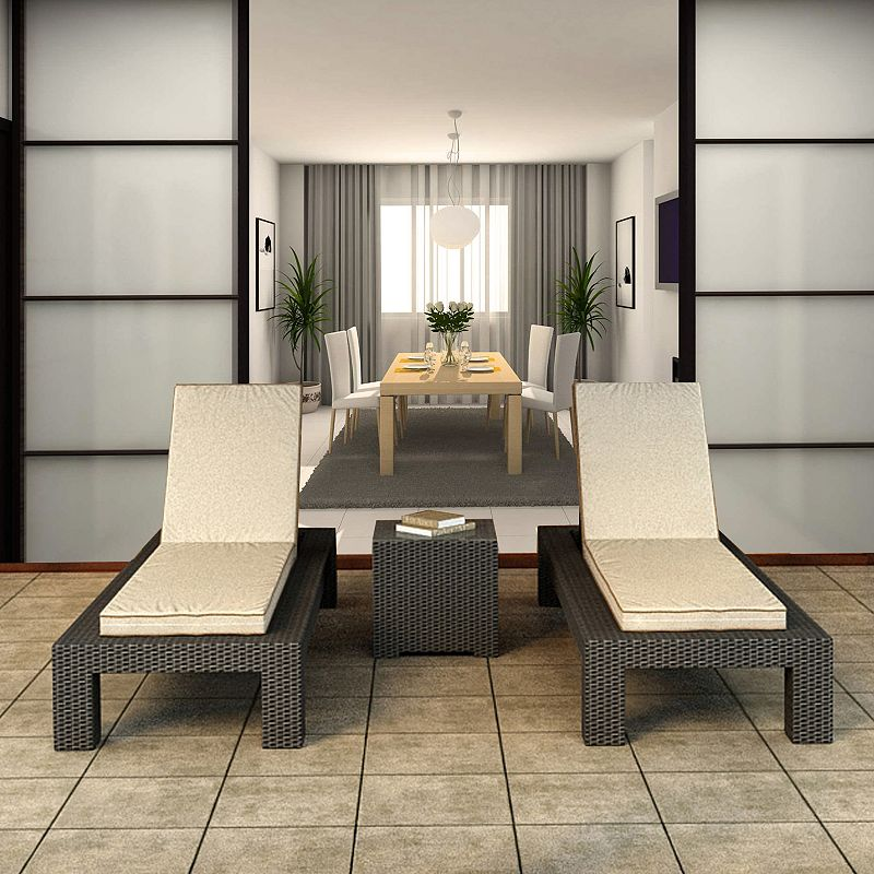 Terrazza Patio Meridian 3-piece Chaise Lounge Set