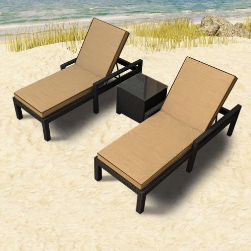 Terrazza Patio Horizon 3-piece Chaise Lounge Set