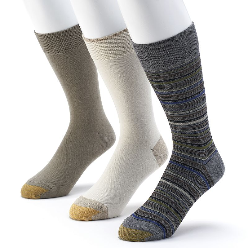 Men's GOLDTOE 3-pack Striped & Solid Dress Socks