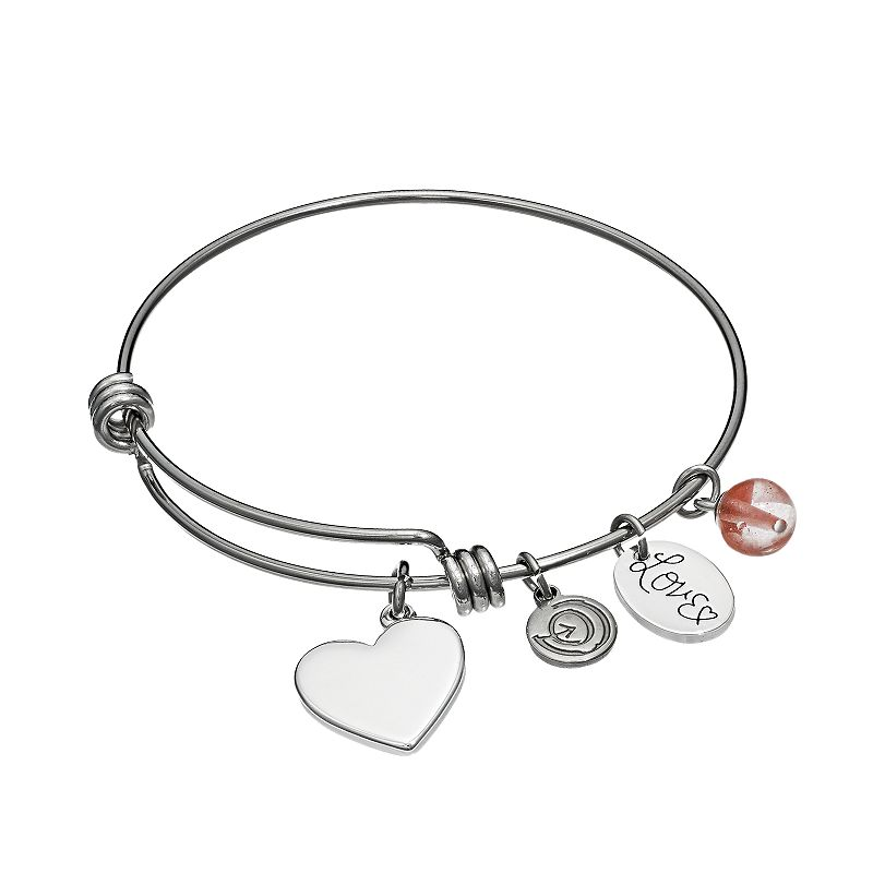 love this life Cherry Quartz Stainless Steel & Silver-Plated