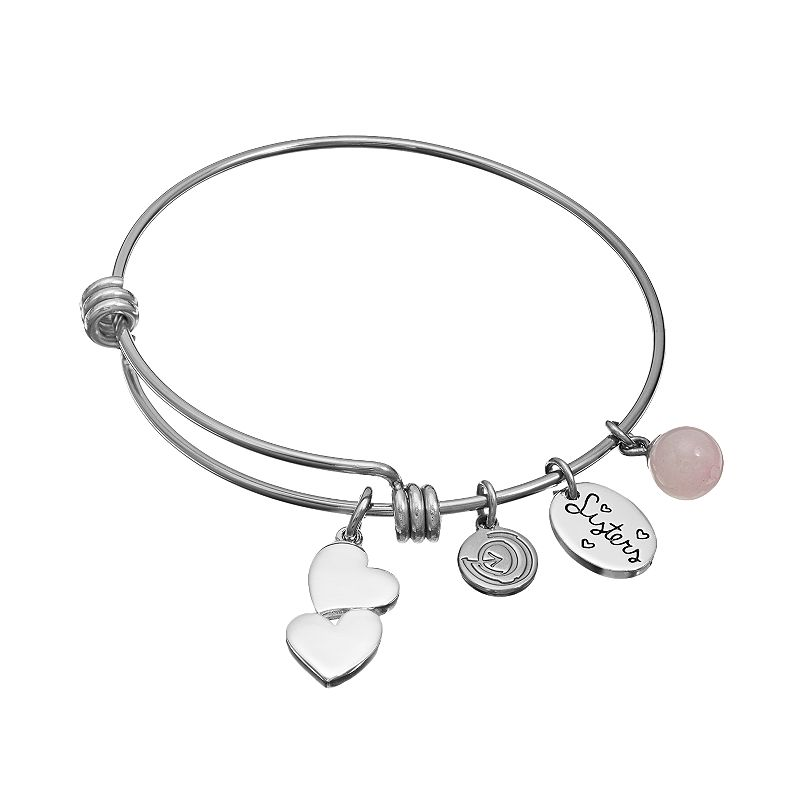 love this life Rose Quartz Stainless Steel & Silver-Plated
