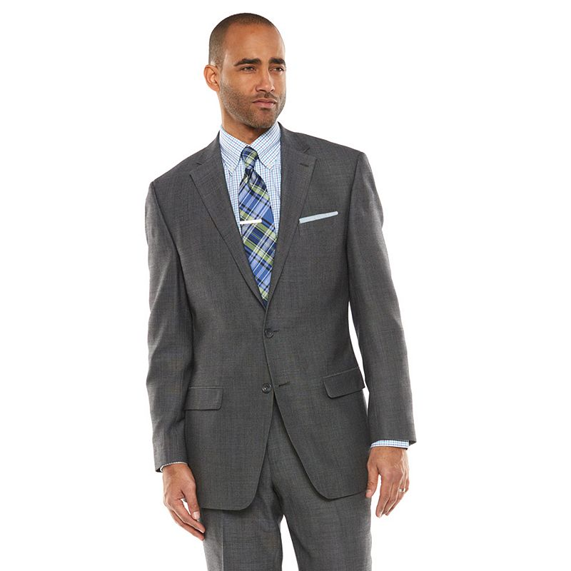 Men's Chaps Black Label Classic-Fit Charcoal Wool-Blend Stretch Suit Jacket