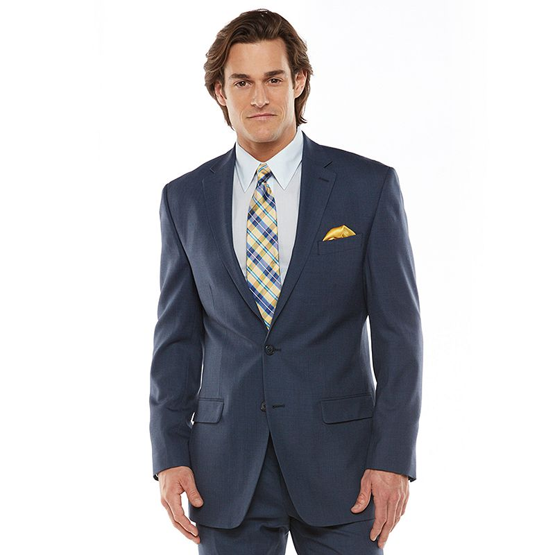 Men's Chaps Black Label Classic-Fit Navy Wool-Blend Stretch Suit Jacket