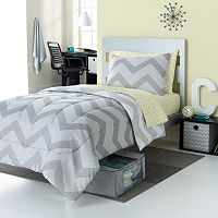 Simple By Design Chevron 8-Pc. Reversible Dorm Bed Set
